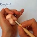 pennello con 2 punte silicone per il Cake design