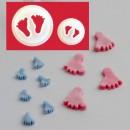 Piedini Neonato Baby in 2 misure. Stampo Tagliapasta. FMM