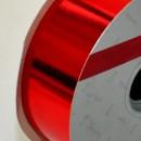 Rosso Metallizzato. Nastro lucido per decorazione.