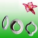 Stampi Orchidea. Set di 3 cutter