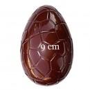 Uovo di Pasqua 9 cm con Venature. Set di 2 Stampi accoppiabili in policarbonato flessibile.