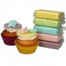 Viola Rosa Blu Verde e Giallo. Confezione di Pasta di zucchero in 5 Colori Pastello. FunCakes. Multipack. Senza Glutine