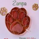 Zampa. Stampo e Tagliapasta in metallo Ramato.