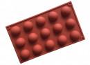 15 Semisfere di 5 x 2.5 cm. Stampo in silicone