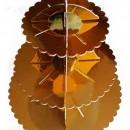 Alzata in Cartoncino ORO a 3 piani per Cup Cake e Muffin 35 cm.