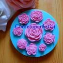 9 piccole Rose. Stampo in silicone