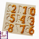 Numeri 1/2 cm Decorati. Stampo in silicone