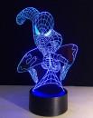 Uomo Ragno. Lampada 7 colori 3/D Led. Telecomando incluso.Cake Topper