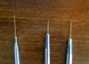 3 Pennelli con Punta Lunga e Sottile. Pennello in Setole