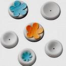 6 formine Poggiatesta Asciugatura in plastica per Fiori