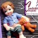 Bambino in Bagno con Orsetto. Stampo in silicone