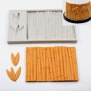 Bamboo Legno Steccato con foglie. Stampo in silicone