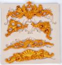 Barocco.5 Stupende decorazioni. Stampo in silicone