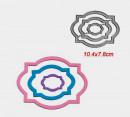 Cornice Decorata Ovale. 3 Fustelle sottili metalliche per Scrapbooking