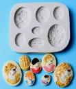 Diadema Cornice Viso Donna. Stampo in silicone con 7 motivi
