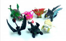 Dragon Trainer 2. Set di 8 grandi Draghi in PVC da 5 a 13 cm