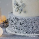 Fiocchi di neve. Fantastico grande Stampo in silicone Sugar Snowflakes. Originale Karen Davies.