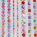 Foglio adesivo di Strass Cristalli stickers termoadesivi per decorare.Varie forme e colori