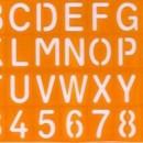 Normografo Alfabeto e Numeri 35 x 22 cm.
