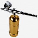 Oro. Aerografo con ricarica USB. Il primo Portatile con Compressore e Batteria integrata!!