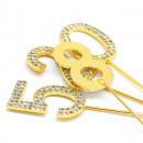 Oro e Argento. Eleganti Numeri Strass Glitterati molto luminosi. Cake Topper