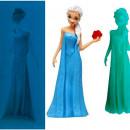 Stampo Elsa 3/D dal film Frozen in Silicone