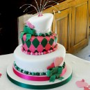 Torta decorata in pasta di zucchero Bambina