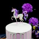 Unicorno. Sagoma colorata. Cake Topper