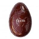 Uovo di Pasqua 11 cm con Venature. Set di 2 Stampi accoppiabili in policarbonato flessibile.
