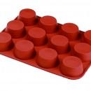 12 Semisfere. Stampo in silicone per Muffin, Brownie, Cupcake e Dolci. Mezza Sfera