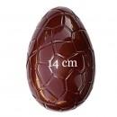 Uovo di Pasqua 14 cm con Venature. 2 Stampi accoppiabili in policarbonato