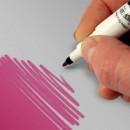 Rosa.Pennarello Doppia punta Media e Fine di 0,5 mm e di 2,5 mm. Rainbow Dust Food Art Pen