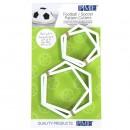 Pallone Calcio. Set di 4 Stampi a forma di Esagono e Pentagono. Originale PME