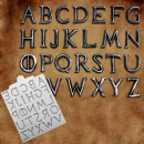 Lettere Metallo effetto Acciaio in silicone