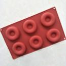 6 Ciambelle. Stampo Platinico di alta qualità