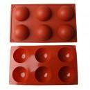 Semisfere di 70 mm . Stampo in silicone