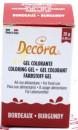 BORDEAUX Gel 28 g. Nuovo Colorante Alimentare. Decora.