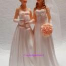 Cake Topper 3/D Spose Donne Gay Arcobaleno. In Resina