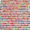 """Foglio adesivo di Strass Cristalli stickers """"Perline"""" 4 mm  termoadesivi per decorare.Vari colori"""