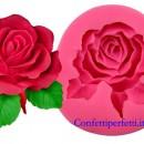 Grande stampo Rosa. Venatore in silicone ad alta definizione in 3/D.