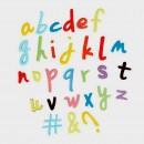 Lettere Corsivo. Stampo Alfabeto ad Espulsione