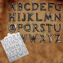 Lettere Metallo Medio Evo effetto Acciaio in silicone