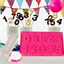 Numeri. Stampo in Silicone per Cake Pops