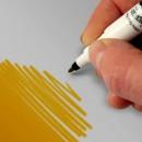 Oro Scuro.Doppia Punta. Pennarello Alimentare con 2 punte di 0,5 mm e di 2,5 mm. Rainbow Dust Food Art Pen