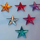 Set di 12 Stelline Strass adesive per decorare.Vari colori.