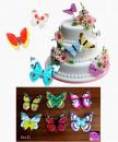 Set E. Farfalle volanti in Wafer Paper edibili. Cake Topper