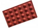 24 Semisfere di 2.5 x 1.5 cm. Stampo in silicone