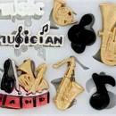 Musica e Note Musicali. Stampo in silicone con forme e strumenti Musicali.