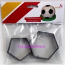 Kit 8 cm Esagono e Pentagono per realizzare un Pallone da Calcio. Dekofee Soccer Cutter Set/2. Originale Dekofee