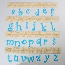 Funky Minuscole Lettere. Set di 26 caratteri. FMM